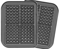 Комплект пластин для электрогриля Redmond RGP-03 (черный) -