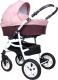 Детская универсальная коляска Smile Line Serenade 20 F 3 в 1 (Se 24, баклажан/темно-розовый) -
