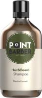 Шампунь для волос Farmagan Point Barber Hair & Beard освежающий (300мл) -