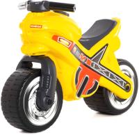 Каталка детская Полесье МХ Мотоцикл / 80578 (желтый) -
