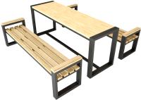 Комплект садовой мебели Грифонсервис СД1 (черный/венге) -
