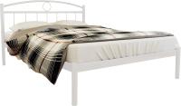 Двуспальная кровать Князев Мебель Люмия ЛЯ.180.200.Б (белый муар) -
