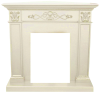 Портал для камина Смолком Verona Corner STD-ASP (белый дуб) -