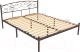 Полуторная кровать Князев Мебель Лилия ЛЛЯ.120.200.К (коричневый муар) -