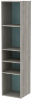 Полка 3Dom Фореста РС180 (дуб бардолино серый/голубой горизонт) -