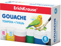Гуашь Erich Krause 50535 (6цв) -