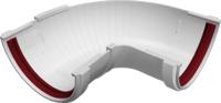 Угол желоба Grand Line Составной ПВХ 90-150 градусов (белый) -