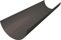 Желоб водостока Grand Line Англйский Стандарт ПВХ (3м, графит) -