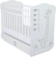 Детская кроватка СКВ 4 Жираф / 411001-2 / 411001-2-2 (белый) -
