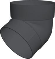 Колено для водостока Grand Line ПВХ GL 67 градусов (графит) -