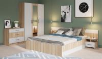 Комплект мебели для спальни Империал Алёна 3 (дуб сонома/белый) -