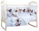 Комплект постельный в кроватку Alis Лучшие друзья 4 (бязь) -