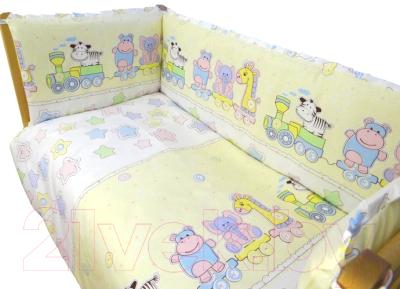 Комплект в кроватку Alis Паровозик звездочка 6 (желтый)