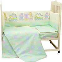 Комплект в кроватку Alis Паровозик звездочка 6 (зеленый) -