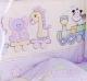 Комплект в кроватку Alis Паровозик звездочка 6 (сиреневый) -
