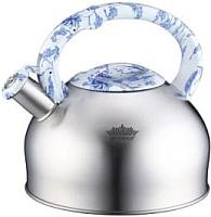 Чайник со свистком Peterhof PH-15639 (белый/голубой) -