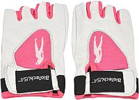 Перчатки для пауэрлифтинга BioTechUSA Lady1 CIB000550 (L, белый/розовый) -