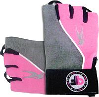 Перчатки для пауэрлифтинга BioTechUSA Lady2 CIB000555 (S, серый/розовый) -