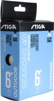 Мячи для настольного тенниса STIGA Seasons Outdoor 40+ABS / 1110-2810-06 (белый, 6шт ) -