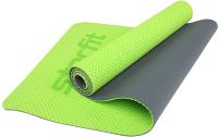 Коврик для йоги и фитнеса Starfit FM-202 TPE (зеленый) -