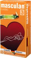 Презервативы Masculan Classic-3 с колечками и пупырышками №10 -
