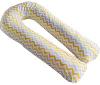 Подушка для беременных Martoo Mommy-U с наволочкой / MOM-U-YGZ (желтый/серый, зигзаг/горох) -