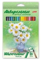 Набор акварельных карандашей Hatber Букет / BKa-18370 (18цв) -