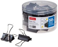 Зажим для бумаги Hatber Energy Save / BC_059124 (20шт, черный) -