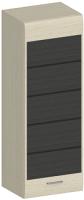Шкаф навесной Лером Камелия АН-1614-БД-К (дуб беленый/комбинированный) -