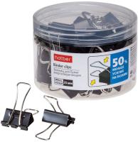 Зажим для бумаги Hatber Energy Save / BC_059125 (40шт, черный) -