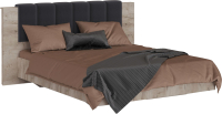 Двуспальная кровать Империал Джулия 160 с ПМ (дуб крафт серый) -