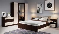 Комплект мебели для спальни Империал Алёна 4 (венге/дуб молочный) -
