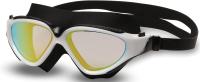 Очки для плавания Indigo Grasshopper S991M (черный/белый) -