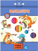 Фломастеры Hatber Забавные животные / BFk-24109 (24цв) -