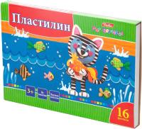 Пластилин Hatber Ушастики / KPn-16880 (16цв) -