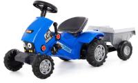 Каталка детская Полесье Turbo-2 Трактор с полуприцепом / 84651 (синий) -