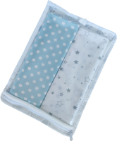 Набор пеленок детских Martoo Comfy-7 / CM-7-2-GR/BL (голубой/серый) -