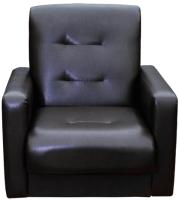 Кресло мягкое Экомебель Аккорд экокожа (темно-коричневый) -