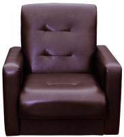 Кресло мягкое Экомебель Аккорд экокожа (коричневый) -