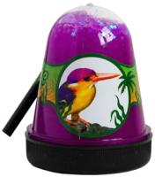Слайм Jungle Slime Птичка Зимородок с белыми звездочками / BS300-130 -