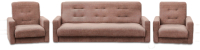 Комплект мягкой мебели Экомебель Лондон-2 рогожка 187x120 (коричневый) -