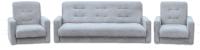 Комплект мягкой мебели Экомебель Лондон-2 рогожка 187x120 (серый) -