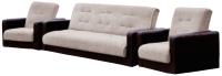 Комплект мягкой мебели Экомебель Лондон рогожка 187x120 (бежевый) -