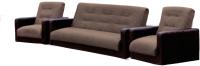 Комплект мягкой мебели Экомебель Лондон рогожка микс 187x120 (коричневый) -
