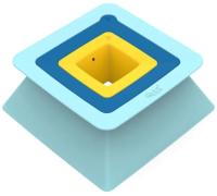 Набор формочек для песочницы Quut Pira для пирамид из песка и снега / 170761 (голубой/синий/желтый) -