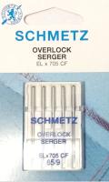 Иглы для швейной машины Schmetz 77478ELX705 CF оверлочные №65 (5шт) -