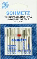 Иглы для швейной машины Schmetz 130/705H универсальная, джинс, стрейч, двойная №8/2(8+1) -