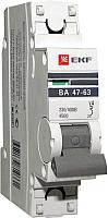 Выключатель автоматический EKF ВА 47-63 1P 25А (C) 4.5kA PROxima -
