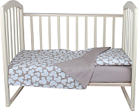 Комплект в кроватку Alis Спокойной ночи 3 / 1080 (Микки бежевый/горох) -
