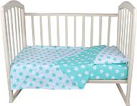 Комплект в кроватку Alis Спокойной ночи 3 / 1042 (бирюзовые пряники) -